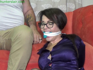 Brually hogtied with evil speaker wire