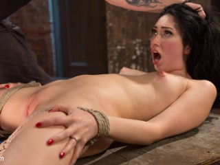 Petite Brunette is Captured in Bondage, Tormented, and Made to Cum