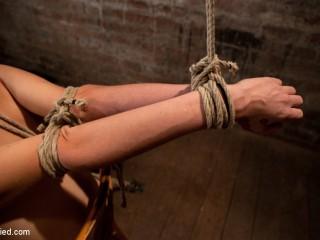 Southern dame made to brutally jizm over & over. Taut bondage, violent jug bondage.  Orgasms overload!