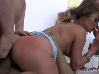5on1 brutal gangbang for Laura Crystal