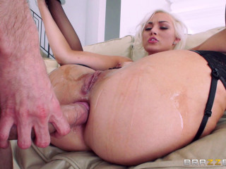Blonde With Nice Natural Tits In Anal Action