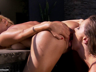 Cool And Molten Girl-on-girl Romp Act In The Open Air