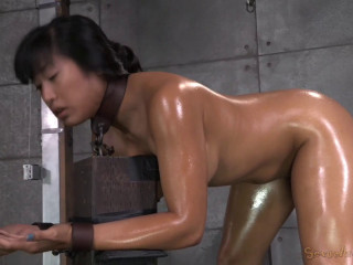 Hot Filipina Mia Li Is Bound Oiled Brutally Face Fucked