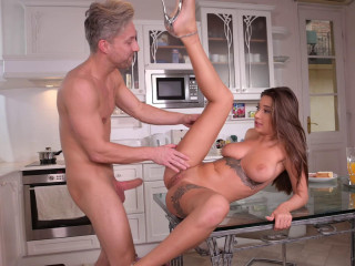 Savouring His Hard-on In The Kitchen
