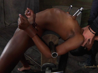 Ana Foxxx pent up in a aggressive Restrain bondage Instrument