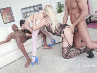 Brutal Interracial Orgy With Sexy Sluts