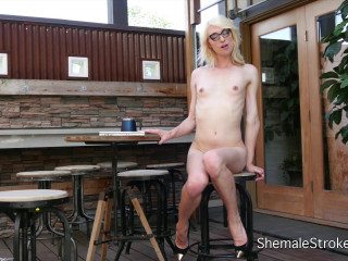 Hot Blonde Trans Girl Wants To Share A Sticky Cup of Goo With You