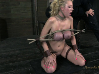 Courtney Taylor and her Huge tits endure a gauntlet of rough deep throating