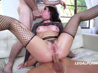 Keira Croft in destructive orgy with DP fuck