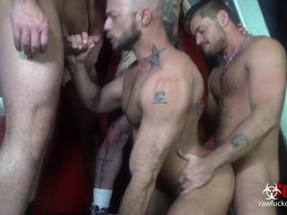 Tough anal orgy