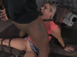 Angel Allwood Bound Down To A Fucking Machine - HD 720p