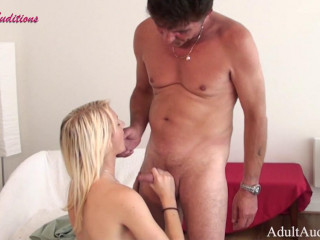 Amy Fucks The Officer - Teenage Blonde with Natural Titties rides dick