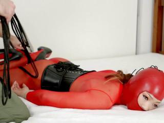 Red Sheer Bodystocking