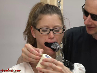 I love Bondage - Business lady tape gagged and handcuffed