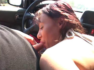 Unexperienced female drilled in public