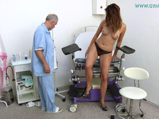Ani Blackfox (24 years chick gynecology exam)