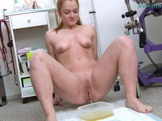Alex Ginger (19 years girl gyno exam)