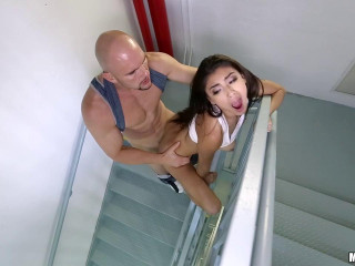 X-tra Puny Monica Takes Fuckpole