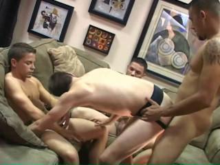 Non-stop bareback orgy