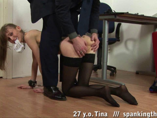 Assistant spanking.