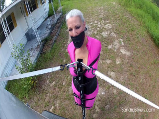 Extreme Bondage Orgasm as Sandra is Bound TO, not in, a Van and Taken