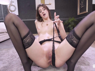 Sexy Brunette Lina Luxa Destroyed in Hardcore Sex