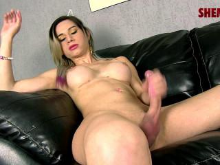Horny Natalia Castro Jacks Her Cock!