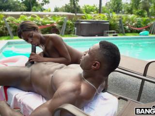 Ebony Lola Gets Stepbro Dick