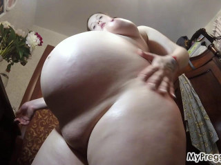 Valery Films Her Massive Pregnant Belly!