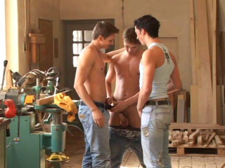 17 horny boys at bareback party
