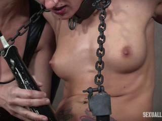 Dakota Marr endures two powerful scenes, violent jaws fucking, restrain bondage and drizzling orgasms! Part 1