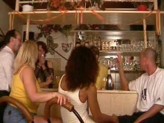 Public lovemaking in a bar