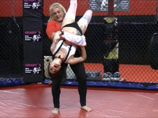 Total Amazonian Cage Fight Domination of Small Girl - HD 720p