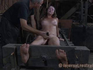 Sasha All Stretched Out - Extreme, Bondage, Caning