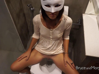Piss And Cum Licking In The Bathroom - Full HD 1080p