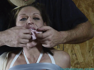 Courtney Mummified Gag Lady 3  part - BDSM,Humiliation,Torture HD 720p