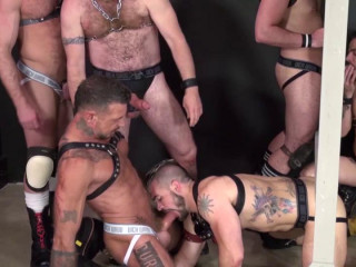 Rough Gangbang With Piss Bears