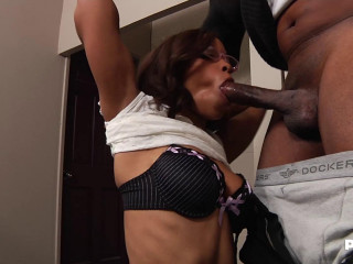 Destiny Day - The Black Secretary Has A Big Desire Of A Cock In Her Ass