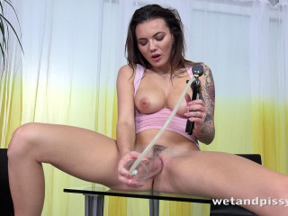 Piss Drenched Dildo Play