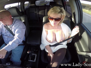 Dame Sonia - First-ever Time Toying In The Car With My Fresh GoPro