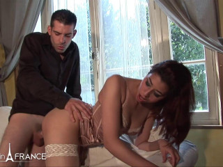 Lilia  Pretty young arab slut in white stockings sodomized by her english