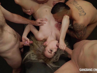 Lexi Lore Enjoys Hard GangBang With Creampie