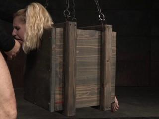Lil' Ash-blonde Odette Bound Inwards A Cage