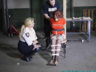 The Security Guards Hogtied and Gagged Me Then Posed with Me 2 part
