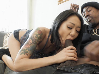 Asian Beauty Saya Song Sucks His Big Black Cock