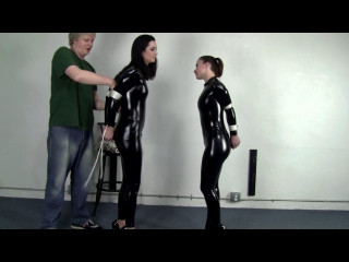Belle Davis and Serene Isley Catsuited Duo Standing Bind