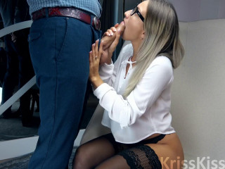 Blonde Suck Big Cock And Handjob