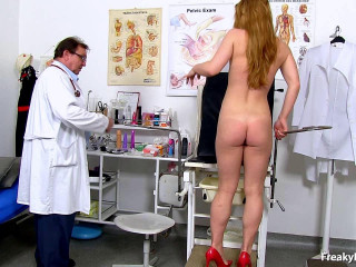Alex Ginger (18 years girls obgyn exam)