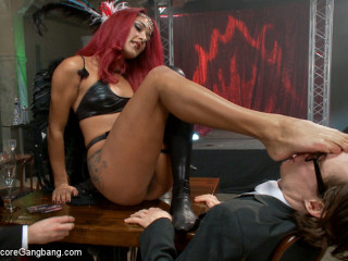 Is It Worth Your Soul?? Wonderful Succubus hell arched on gang-bang to top them all!!