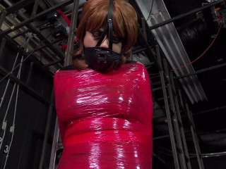 Jessica Kat plastic wrap poletie